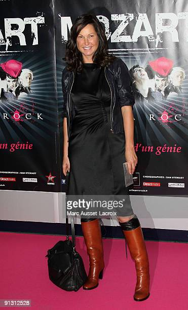 Evelyne Thomas attends the 'Mozart l'Opera Rock' Paris Premiere at Palais des Sports on October 1 2009 in Paris France