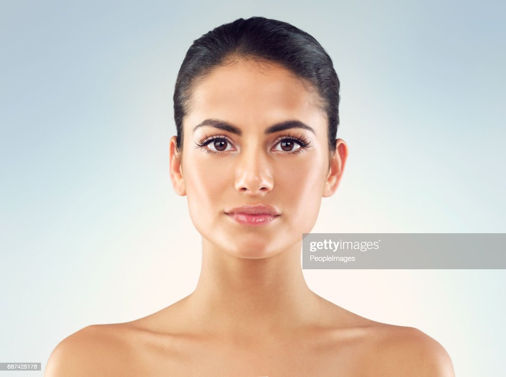 Even and clear skin tone in focus : Stock Photo