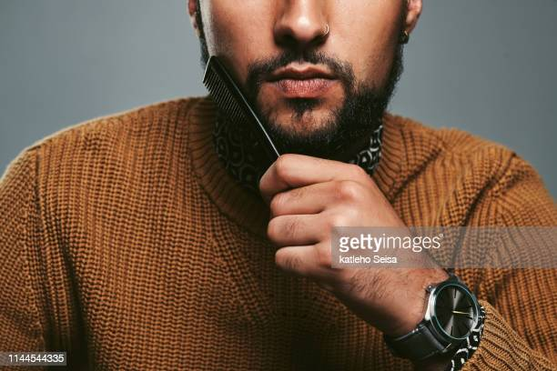 even beards need some tlc - facial hair stock pictures, royalty-free photos & images