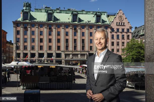 Even Frydenberg chief executive officer of Scandic Hotels Group AB gestures while speaking during an interview in Stockholm Sweden on Friday June 15...
