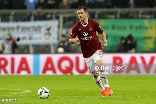 Even Hovland of 1 FC Nuernberg controls the ball during the Second Bundesliga match between TSV 1860 Muenchen and 1 FC Nuernberg at Allianz Arena on...