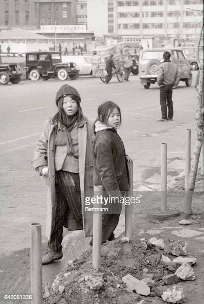 Even street urchins in Seoul now have their own overcoats Korean war veterans recall days when children walked through the snow in rags