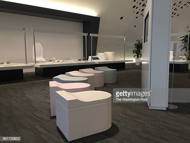 Even the seats in the $60 million Toto toilet museum in KitaKyushu Japan on December 3 2015
