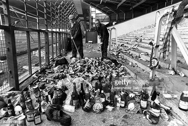 Even though bottles had been banned a total of 137 Scottish fans and one Welsh supporter were fined up to £25 each for being drunk Among the drinks...