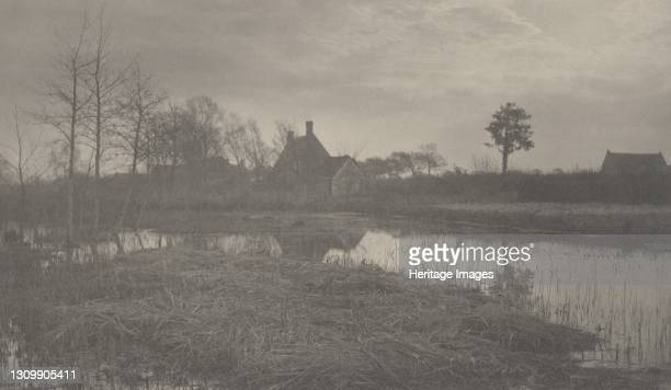 Evening, 1886. Artist Dr Peter Henry Emerson, Thomas Frederick Goodall. .