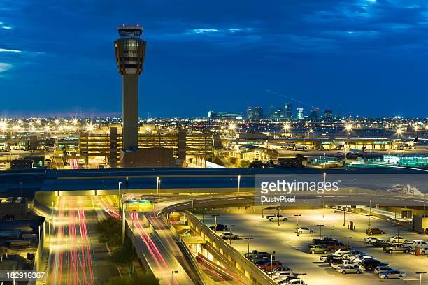 Soir trafic à l'aéroport