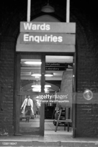 Evening at a hospital in Paddington, London, circa June 1969. From a series of images to illustrate the many frustrations of living in Britain during...