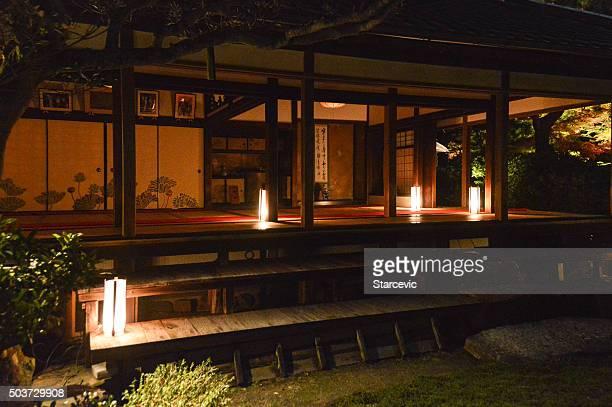 Shoren 夜の寺院、日本、京都