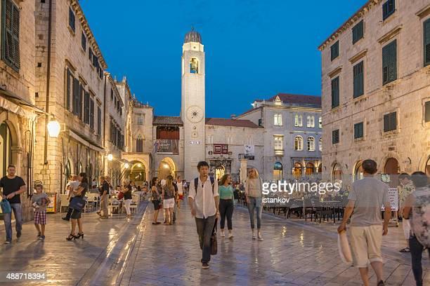 Evening at Stradun, Dubrovnik, Croatia