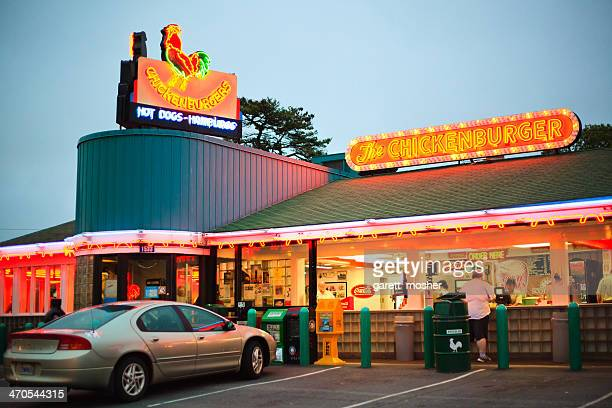 evening at the chickenburger - bedford nova scotia stock pictures, royalty-free photos & images