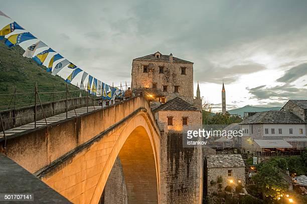 Evening at the Mostar Bridge