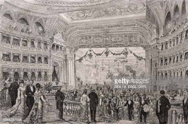 Evening at the Vienna Opera House illustration Austria 19th century