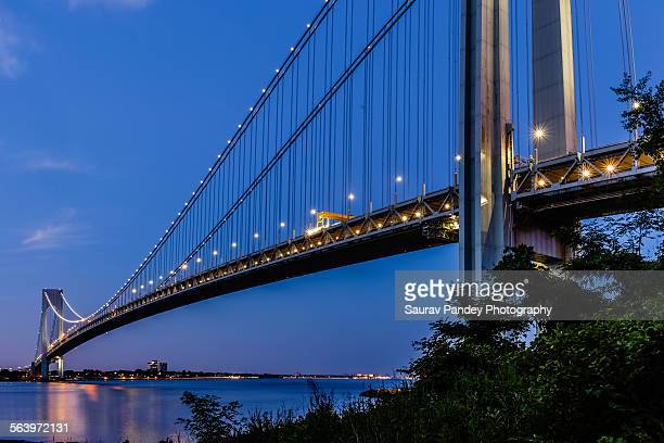 Evening at Verrazano-Narrows Bridge