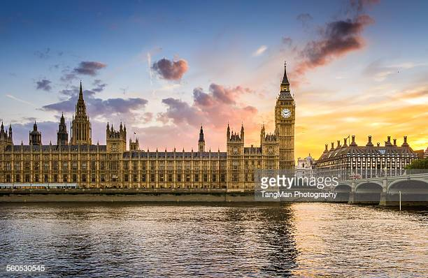 evening big ben - city of westminster london stock pictures, royalty-free photos & images