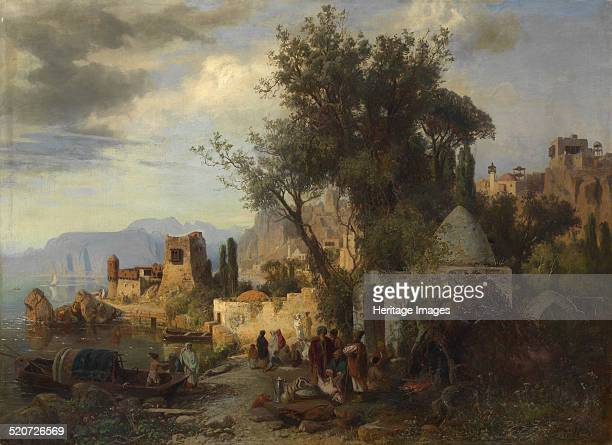 Evening by the Kura River near Tiflis Private Collection