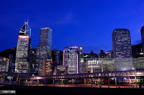 evening central, hong kong - hong kong stock pictures, royalty-free photos & images