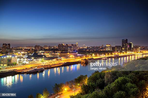 Evening cityscape of Moscow