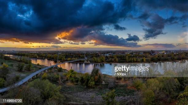 evening clouds - saxony anhalt stock pictures, royalty-free photos & images