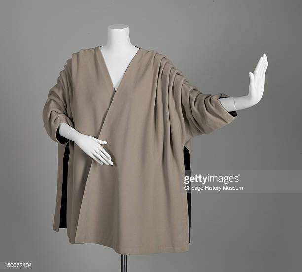 Evening coat 1950 Wool gabardine silk taffeta by Cristobal Balenciaga