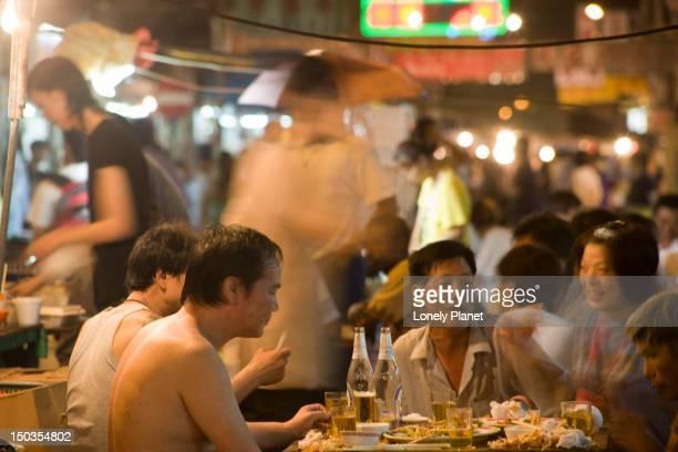 Evening diners, Temple Street Night Market, Mong Kok.