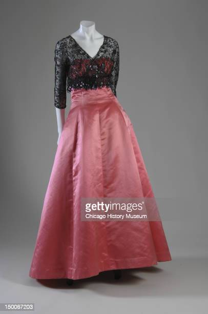 Evening dress and jacket ca 1955 Cotton velvet by Cristobal Balenciaga