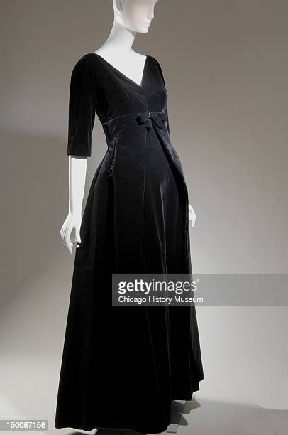 Evening dress ca 1955 Cotton velvet by Cristobal Balenciaga