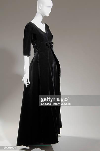 Evening dress ca 1955 Cotton velvet by Cristobal Balenciaga