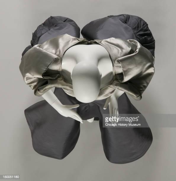 Evening dress Clover 1950 Silk satin silk taffeta by Charles James worn by Mrs Howard Linn nee Lucy McCormick Blair James named this design the...