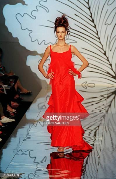 Evening dress designed by Valentino.