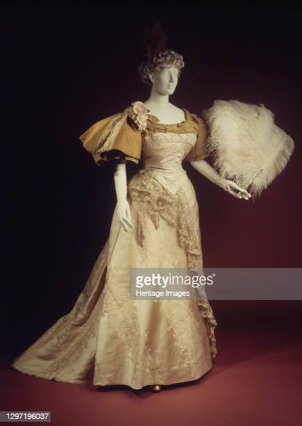 Evening dress, French, 1894. Artist House of Worth.
