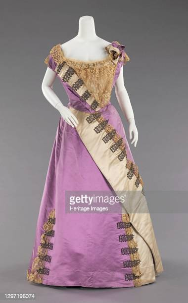 Evening dress, French, circa 1892. Artist House of Worth.