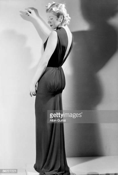 Evening dress of at Alix Barton Paris October 1937