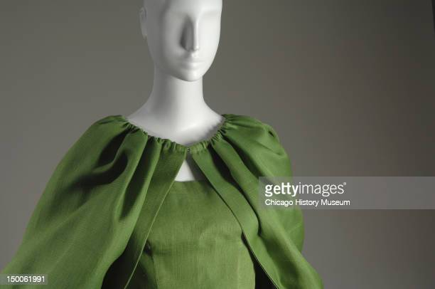 Evening dress with cape 1961 Silk gazaar by Cristobal Balenciaga