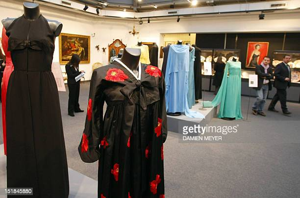 Evening dresses and personal belongings of GreekAmerican opera diva Maria Callas are exhibited 07 December 2007 in Milan before being put up for sale...