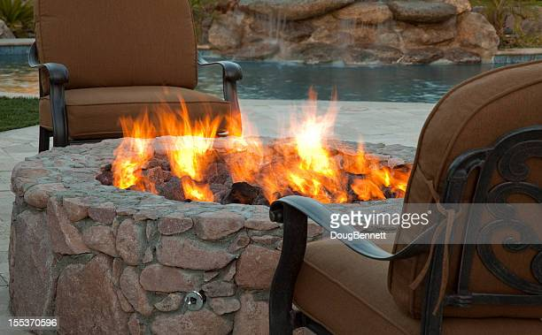 Evening Fireside Outdoor Seating