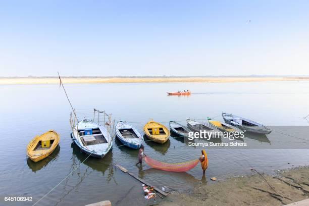 Evening Fishing at Ganga Ghat