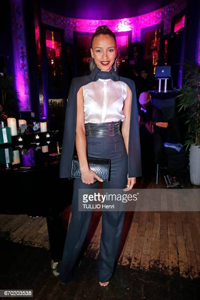 Evening gala for the new perfume Pour un Homme by Caron at the Theatre du Renard in Paris on March 22 2017 Flora Coquerell Miss France 2014