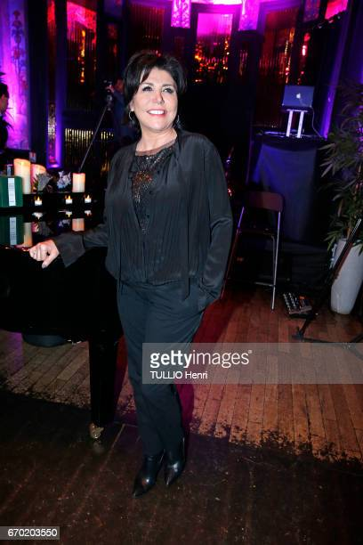 Evening gala for the new perfume Pour un Homme by Caron at the Theatre du Renard in Paris on March 22 2017 the singer Liane Foly