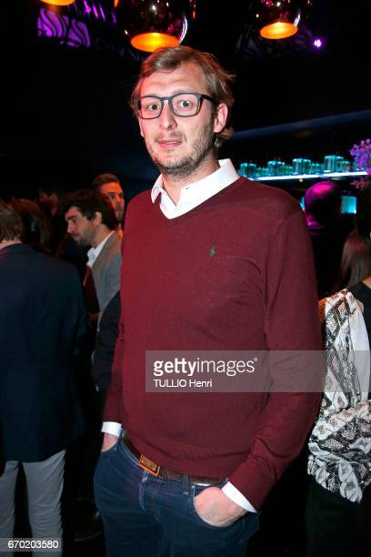 Evening gala for the new perfume Pour un Homme by Caron at the Theatre du Renard in Paris on March 22 2017 Amaury Leveaux