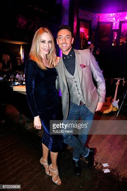Evening gala for the new perfume Pour un Homme by Caron at the Theatre du Renard in Paris on March 22 2017 Tonya Kinzinger and the dancer Maxime...