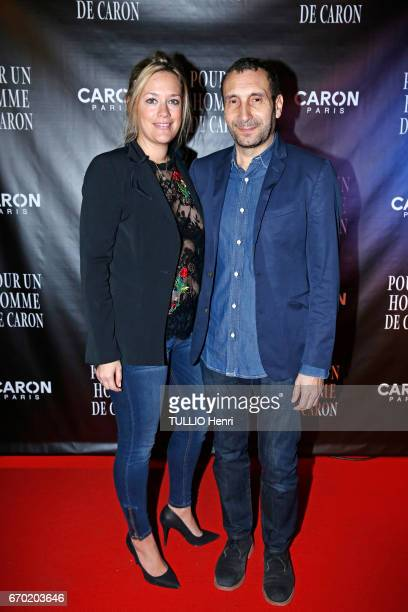 Evening gala for the new perfume Pour un Homme by Caron at the Theatre du Renard in Paris on March 22 2017 the actor Zinedine Soualem and his wife...