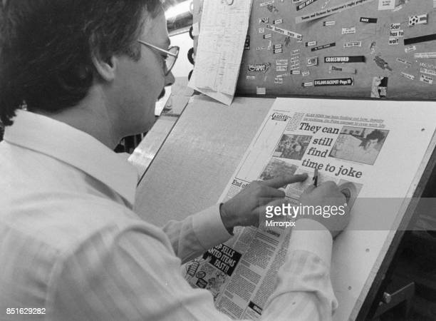 Evening Gazette Newspaper Gazette Buildings 105111 Borough Road Middlesbrough Cleveland 7th January 1988 Our picture shows graphics artist at work