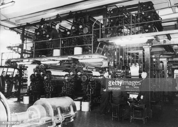 Evening Gazette Newspaper Gazette Buildings 105111 Borough Road Middlesbrough Cleveland Circa 1930 Our picture shows Rotary Printing Press