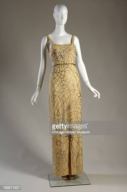 Evening gown, 1937 . Wool crepe, sequins by Jeanne Lanvin.