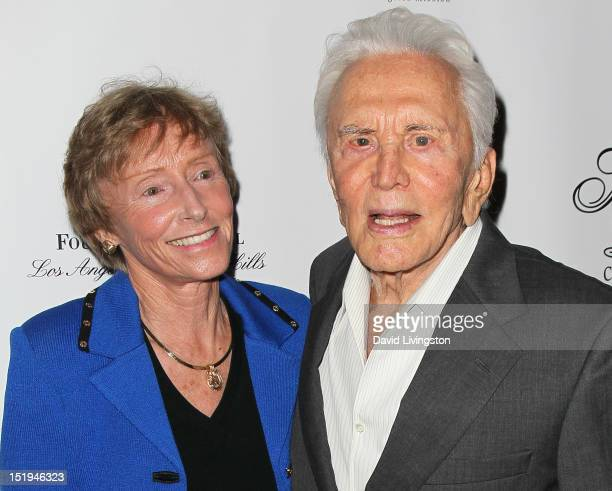 Evening honoree Dr Betty McMicken and actor Kirk Douglas attend the Los Angeles Mission's 20th Anniversary Gala for the Anne Douglas Center for Women...