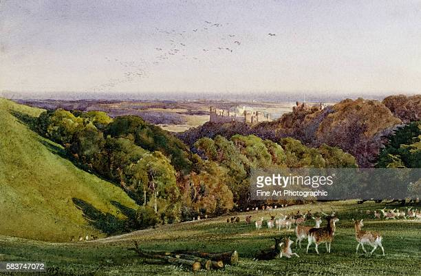 Evening in Arundel Park Sussex England by Charles James Adams