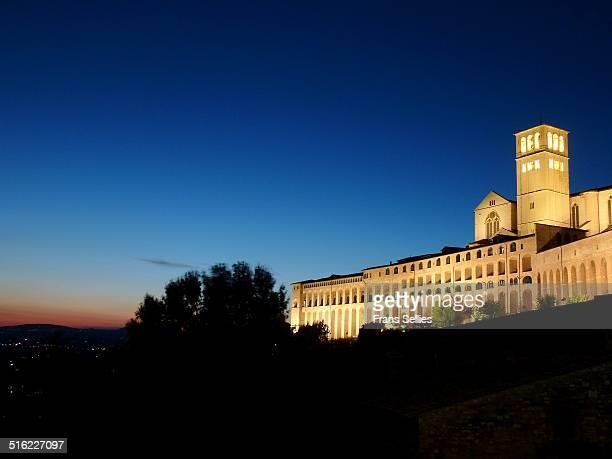 evening in assisi, italy - frans sellies stockfoto's en -beelden
