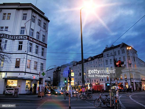 evening in berlin mitte - central berlin stock pictures, royalty-free photos & images