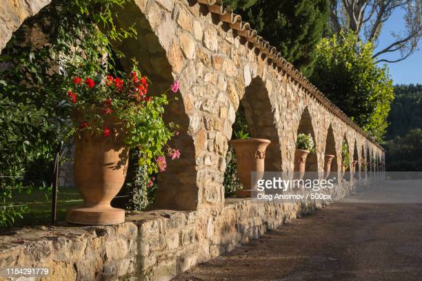 evening in provence - lorgues stock photos and pictures
