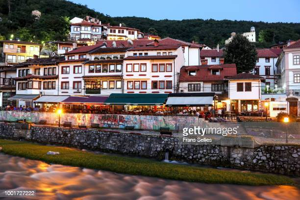 Evening in the historic city of Prizren on the banks of the Bistrica river, Kosovo